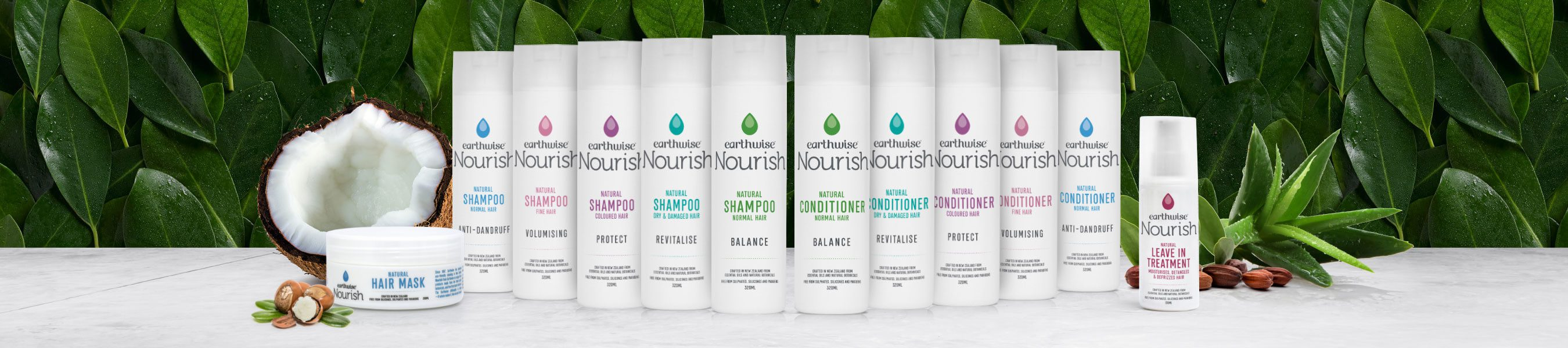 Earthwise Nourish Natural Hair Range