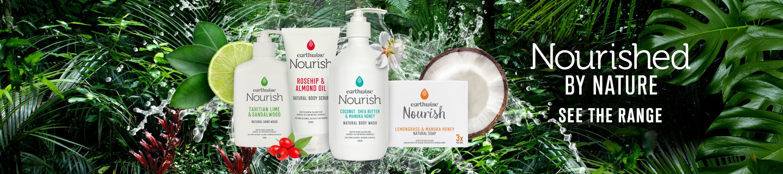 Earthwise Nourish Natural Body Range